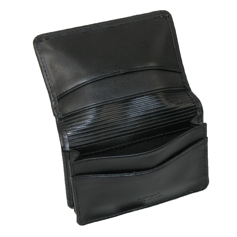 Buxton Leather Business Card Holder with ID Window - Walmart.com