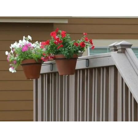 - Deck Mounted Flower Pot Holder