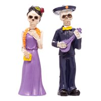 Way to Celebrate Dia de los Muertos Skeleton Couple Set of 2 Deals