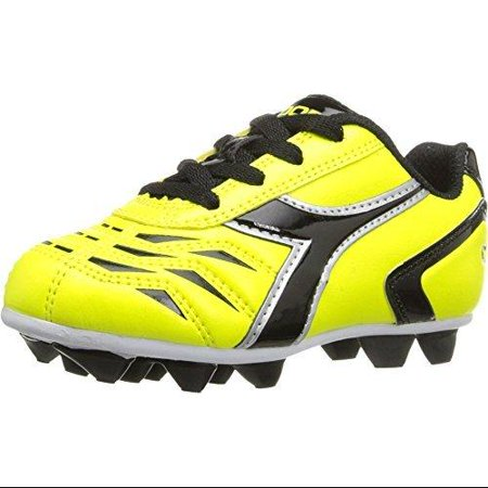 Diadora Boy's Capitano MD JR Soccer Cleats Yellow Nylon Cotton Polyurethane 3 Little Kid