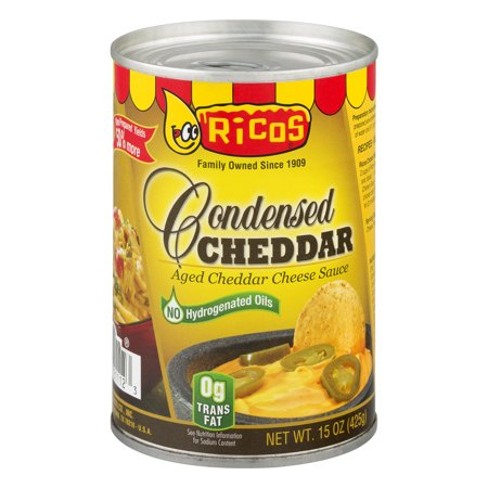 - (2 Pack) Rico's: Cheddar Cheese Sauce, 15 oz
