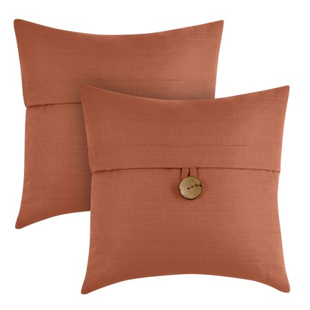 Better Homes Gardens Feather Filled Banded Button Decorative Throw Inspiration Decorative Pillows With Buttons