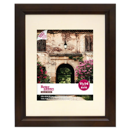 Better Homes And Gardens 11x14 Matted To 8x10 Studio Wood Picture Frame Mahogany