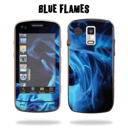 Skin Decal Wrap cover for SAMSUNG ROGUE U960 Blue Fire
