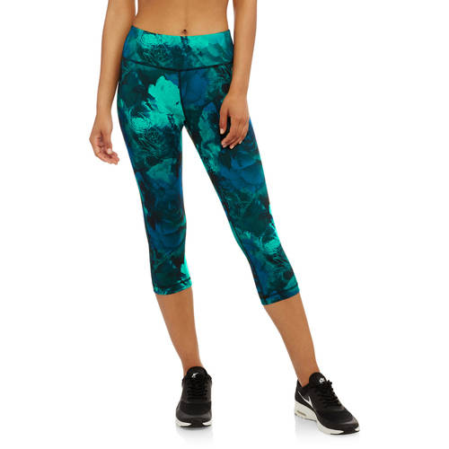 Danskin Now Women's Allover Print Performance Capri Leggings