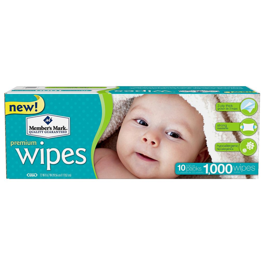 Member's Mark Premium Baby Wipes, 1000 ct. (10 packs of 100) by Member%27s Mark