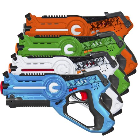 Best Choice Products Infrared Laser Tag Blaster Set for Kids & Adults with Multiplayer Mode, 4 Pack