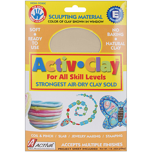 Activa Activ-Clay Air Dry, 1-Pound, White Multi-Colored