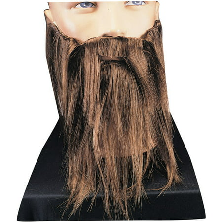 Halloween Adult Grey Full Beard and Mustache - Halloween Costume Mustache