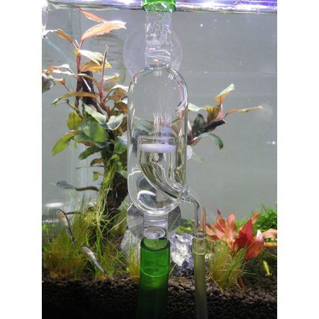 Moaere Glass Inline CO2 Atomizer Diffuser System for Aquarium Planted Tank - Hpa Tank System