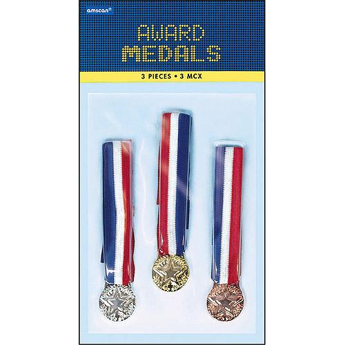 Award Metals 3/Pkg-Bronze, Silver & Gold
