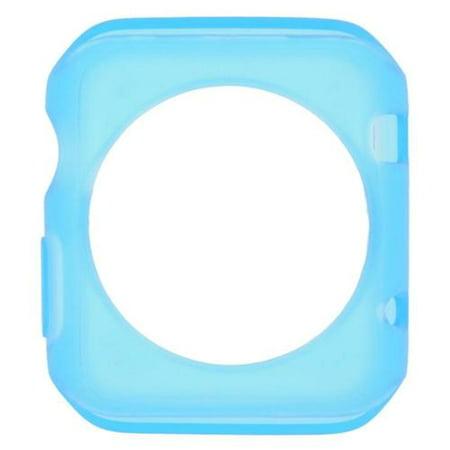 Insten Gel silicone Skin Case For Apple Watch iWatch 42mm - Blue