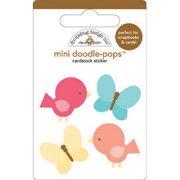 Flower Box Doodle-Pops Embellished 3-D Stickers-Take Flight