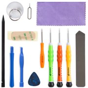 iPhone Tool Kit, Fosmon 13 Pieces Tool Repair Kit [ 5-Point Pentalobe Screwdriver ] Opening Screen Tools for Apple iPhone SE / 6S Plus / 6S / 6 Plus / 6 / 5S / 5c / 5 / 4