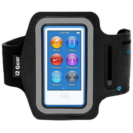 i2 Gear Armband for iPod Nano 8th and 7th Generation Devices (Black) Black Ipod Nano Protective Cover
