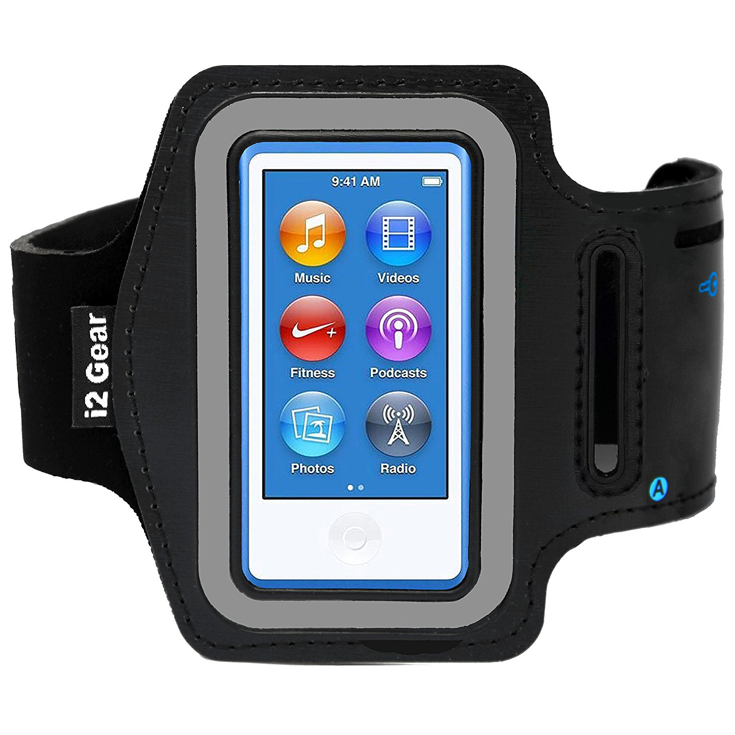 i2 Gear Armband for iPod Nano 8th and 7th Generation Devices (Black)