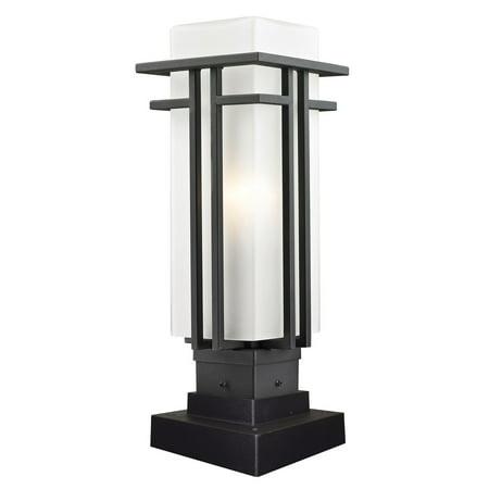 Outdoor Post 1 Light With Black Finish Steel Drum Medium Base Bulb 7 inch 100 Watts