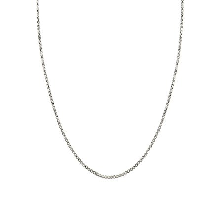 Medium Weight Sterling Silver Chain Necklace ()