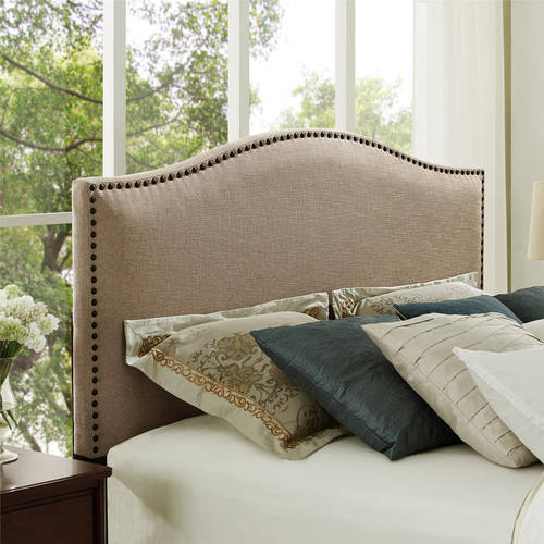 Better Homes and Gardens Grayson Linen Upholstered Headboard with Nailheads, Full Queen, Multiple Colors by Dorel Asia