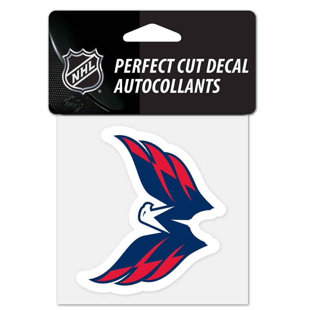 Washington Capitals Official NHL 4 inch  x 4 inch  Perfect Cut Car Decal by Wincraft