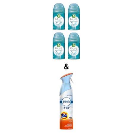 Air Freshener Tide Original 250g By Febreze & Pure Freshmatic 4 Refills Automatic Spray, Ocean Breeze, (4X6.17oz), Air Freshener By Air Wick - image 1 of 1