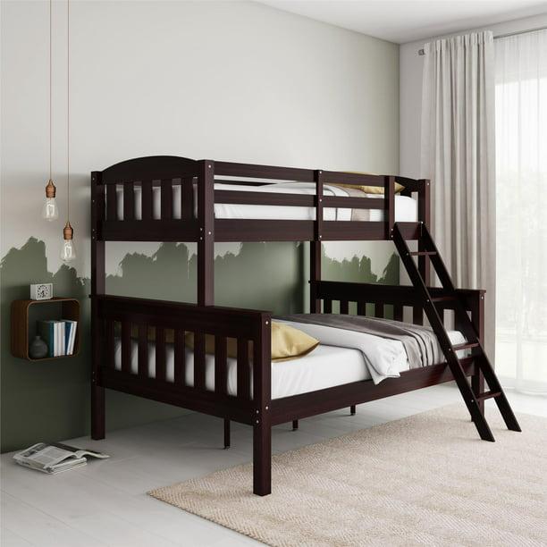 Dorel Living Airlie Twin Over Full Bunk Bed Espresso Walmart Com Walmart Com