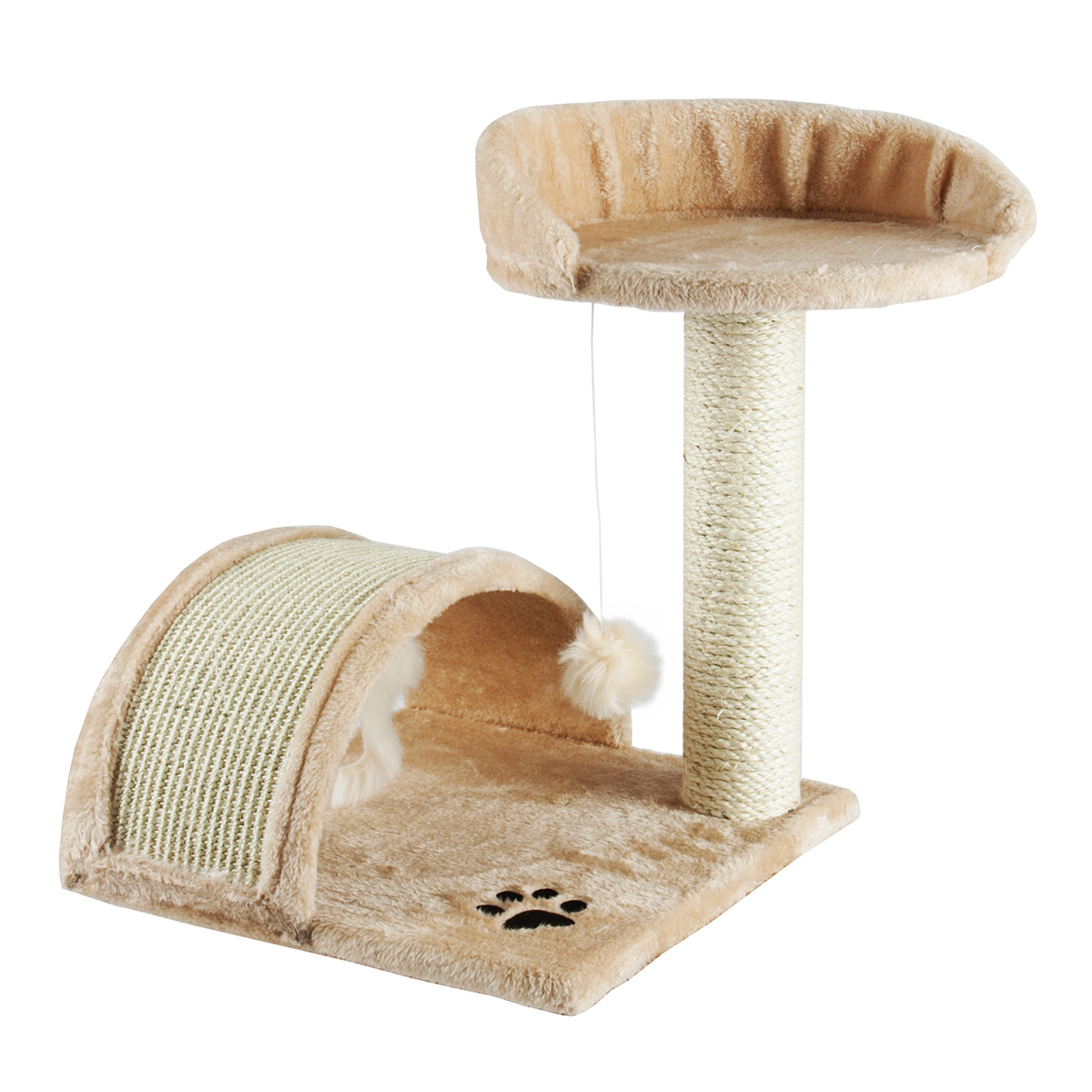 """Apontus Cat Tree with Scratching Post, 18"""" Height, Beige by Apontus"""