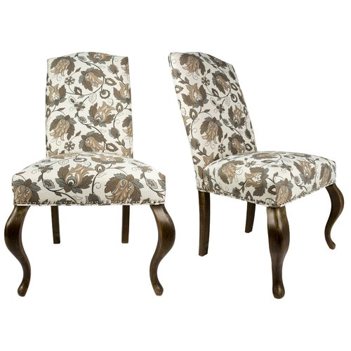 Sole Designs Queen Ann Spring Upholstered Side Chair (Set...