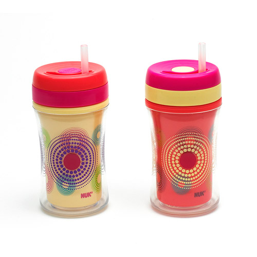 Gerber Graduates - 9-oz Insulated Straw Cup, Fireworks, BPA-Free, 2pc