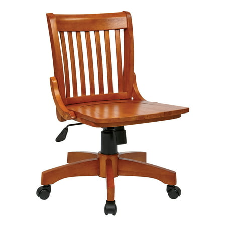 Deluxe Armless Wood Bankers (Deluxe Office Posture Chair)