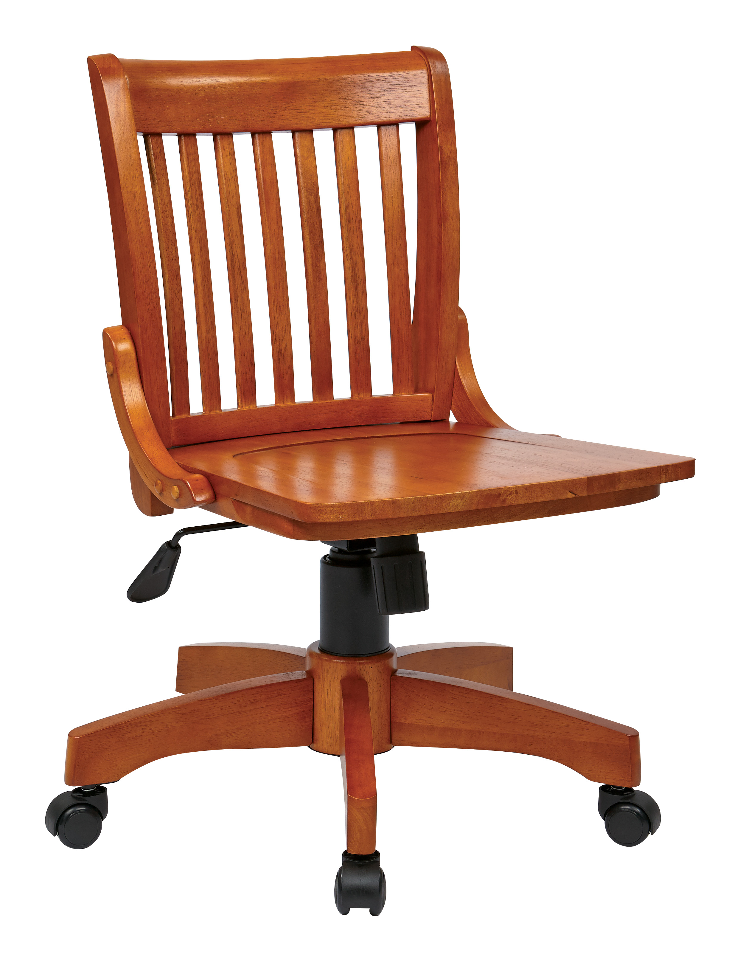 Merveilleux Deluxe Armless Wood Bankers Chair