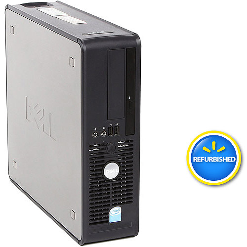 Refurbished Dell Black 745 Small Form Factor Desktop PC with Intel Core 2 Duo Processor, 2GB Memory, 80GB Hard Drive and Windows 7 Home Premium (Monitor Not Included)