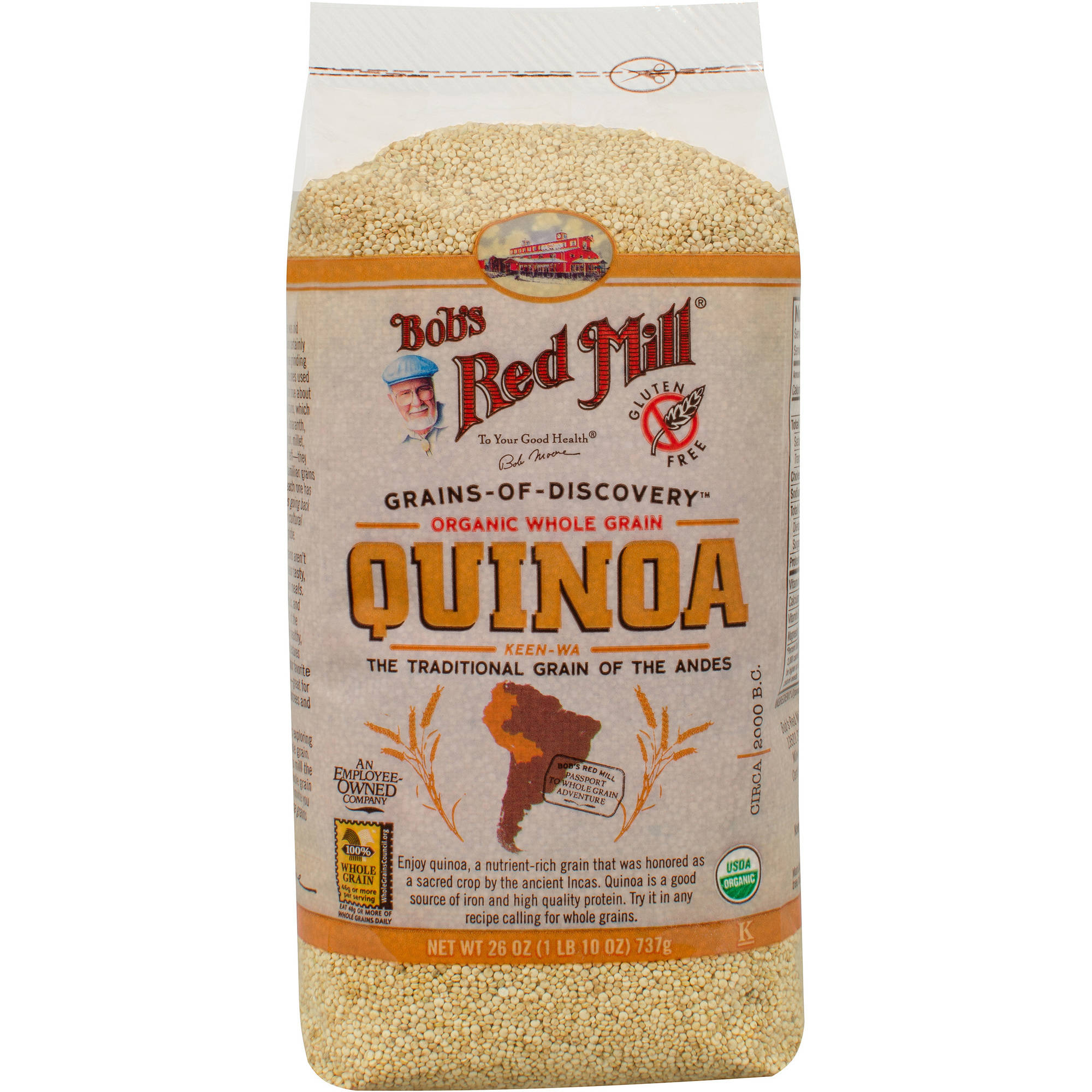 Bob's Red Mill Organic Quinoa, 26 oz (Pack of 4)