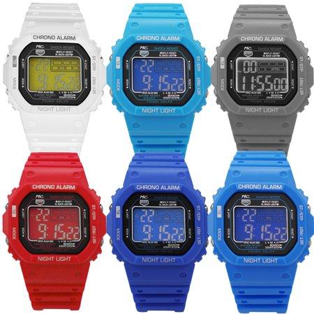 Montres Carlo Digital 50 Meter Lcd Watch Style 8576