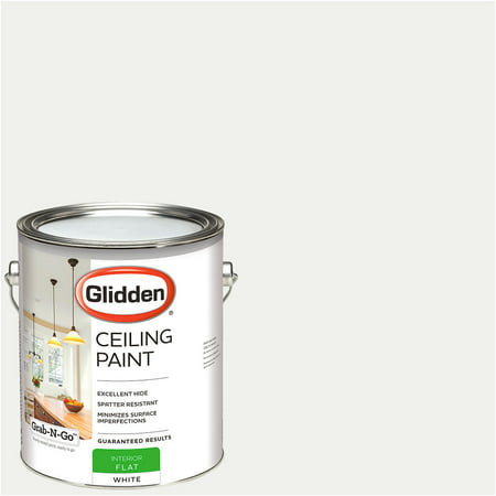 - Glidden Ceiling Paint, Grab-N-Go, Interior Paint, White, Flat Finish