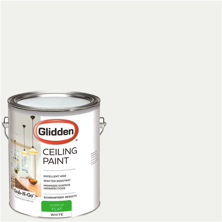 Distressed Paint Finish - Glidden Ceiling Paint, Grab-N-Go, Interior Paint, White, Flat Finish