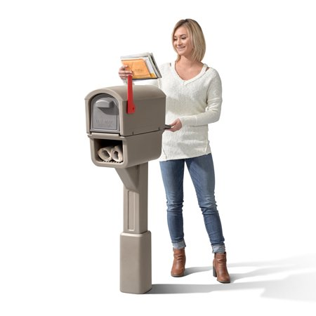 Step2 MailMaster Express Plus Plastic Mailbox Mocha