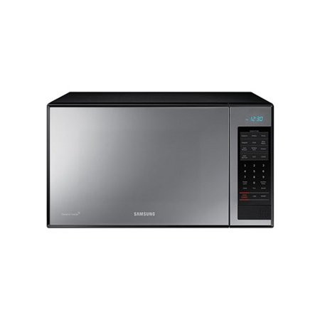 Samsung 1.4 cu ft Counter-Top Grill Microwave with Ceramic Enamel Interior, Black Mirror Finish