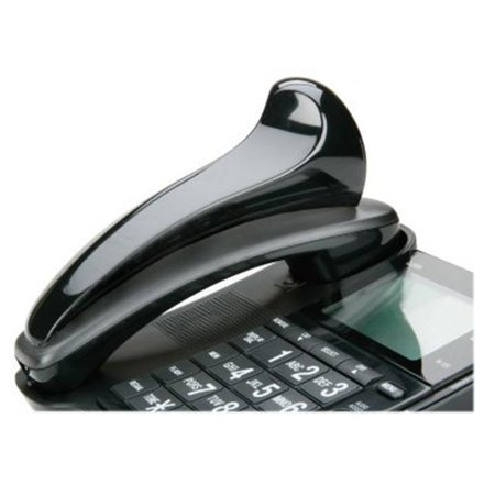 AbilityOne 5923859 7520015923859 Curved Shape Telephone Shoulder Rest, Black