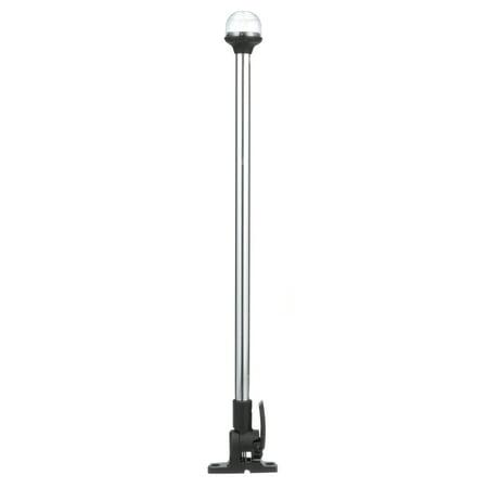 Pole Light Base - Attwood 2NM LED All-Round Fold-Down Light with Lightarmor Base & Aluminum Pole