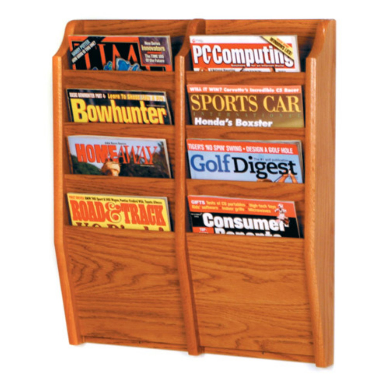 8-Pocket Wall Magazine Rack by Luggage Pros