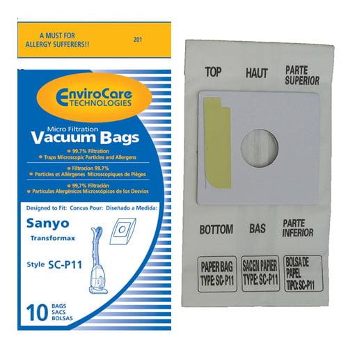 """""""Replacement Vacuum Bag for Sanyo 201 - Single Pack Replacement Vacuum Bag"""""""
