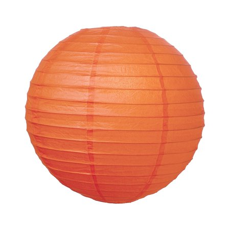 Premium Paper Lantern, Lamp Shade (24-Inch, Parallel Style Ribbed, Mango (Mango Shop Locations)