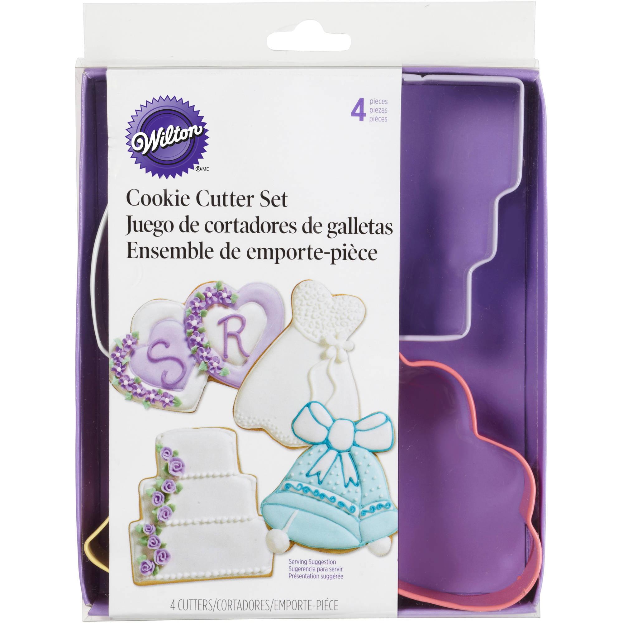 Wilton Metal Cookie Cutter Set, Wedding Theme 4 ct. 2308-1071