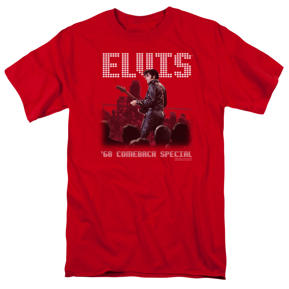Elvis/Return Of The King S/S Adult 18/1   Red     Elv521