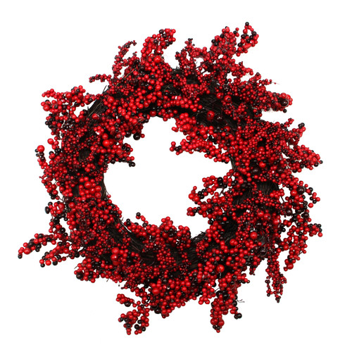 Northlight Seasonal Decorative Artificial Berry Christmas Wreath with Unlit