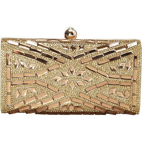 Women's J. Furmani 60239 Hardcase Stone Design Clutch
