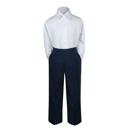 2pc BaBoy Kid Teen Formal Party Tuxedo Suit Dress Shirt & Navy Pants Sm-7