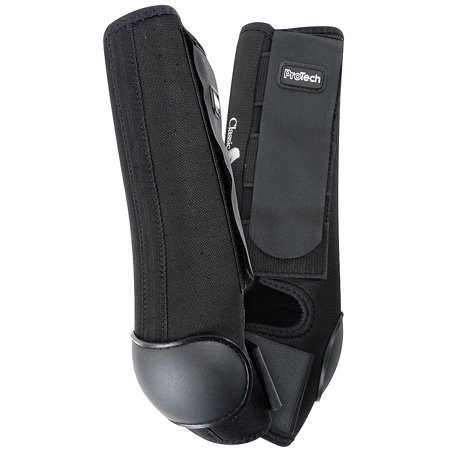 - SMALL CLASSIC EQUINE AIR WAVE PRO TECH FLEXIBLE HORSE HIND BOOTS BLACK