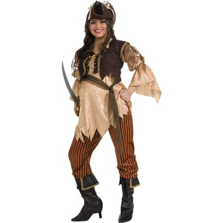 Good Pregnant Costumes (Maternity Pirate Queen Adult Halloween Costume - One)